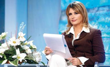 Un'immagine di Daniela Rosati (56 anni) quando era conduttrice televisiva.