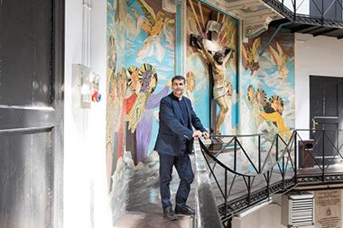 Don Raffaele Grimaldi, 60 anni, nella casa circondariale Regina Coeli di Roma