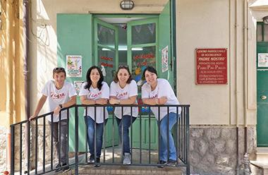 I ragazzi del Centro di accoglienza Padre Nostro, l'oratorio parrocchiale fondato da don Puglisi