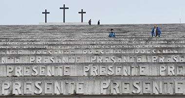 La scalinata monumentale del sacrario di Redipuglia, in Friuli Venezia Giulia