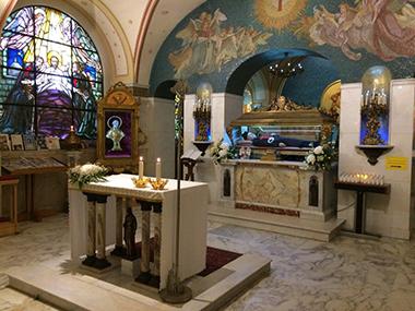 La cripta del santuario di Bucchianico