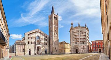 La cattedrale di Parma, dedicata all'Assunta